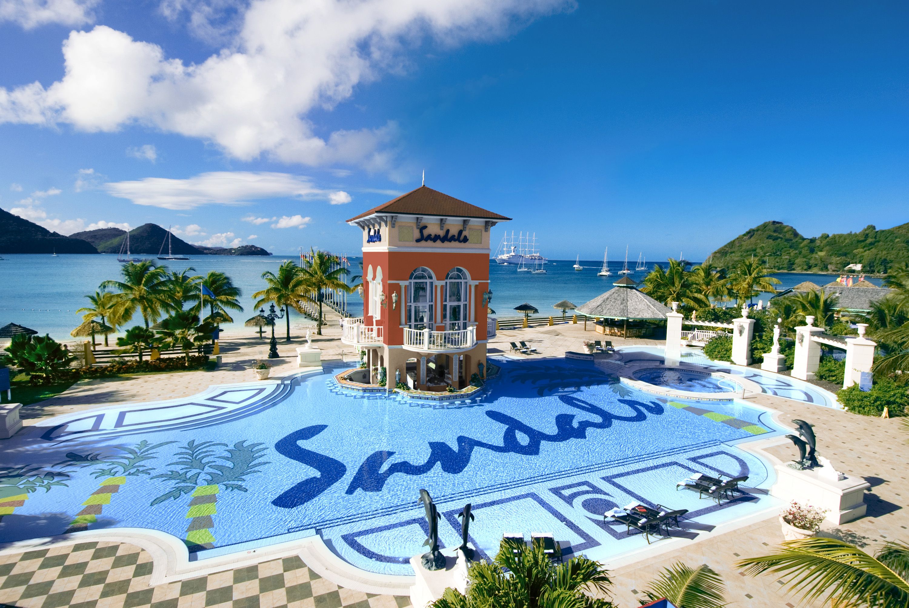 Image gallery sandals resorts for Best caribbean honeymoon resorts