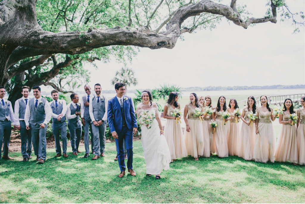Photograph by Hyer Images at Lowndes Grove Plantation. Bouquets by Loluma.