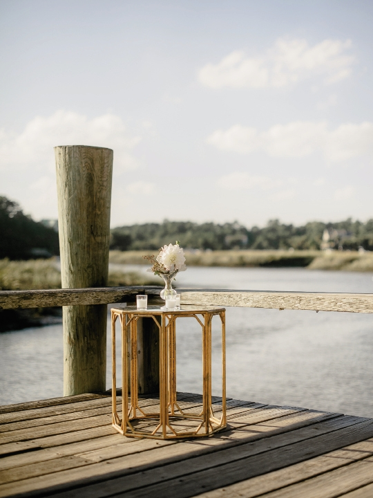 Wedding design and rentals by Ooh! Events. Image by Brandon Lata Photography at Boone Hall Plantation and Cotton Dock.