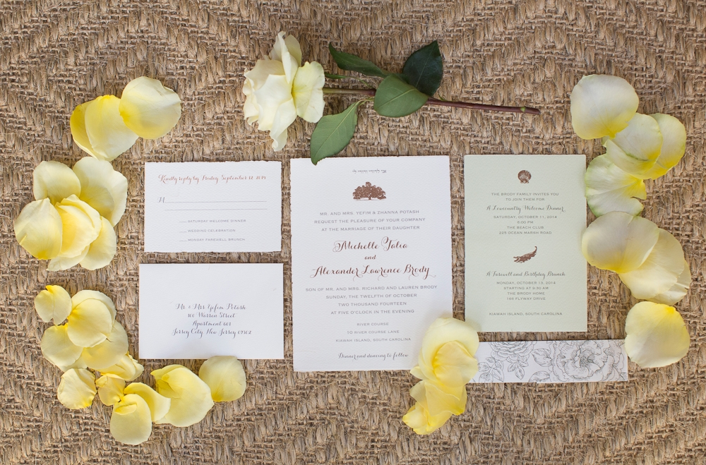 Stationery by Paper Presentation. Florals by Charleston Stems. Photograph by Captured by Kate.