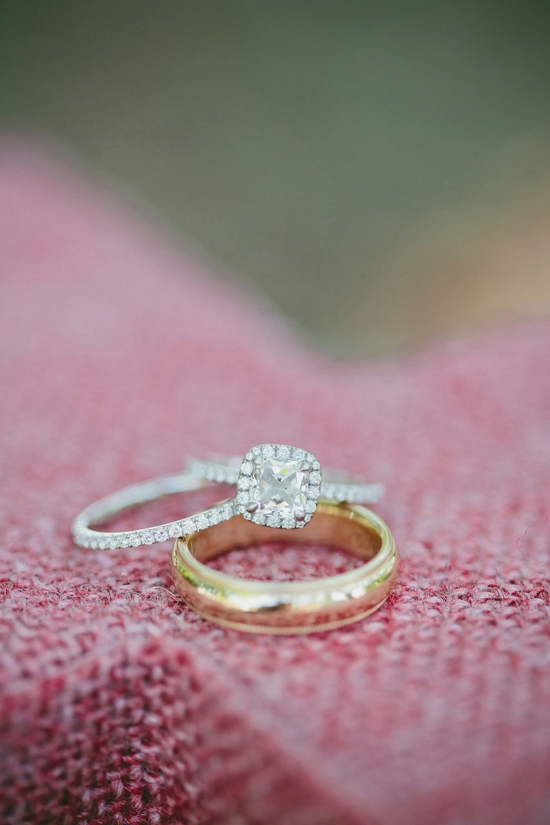"""WITH THIS RING: While enjoying a candlelit picnic in the park, Thomas started to recite a poem and pop the question, when Ruth's jacket caught on fire. """"I set my girlfriend on fire and she still said, 'Yes!' """" says Thomas."""