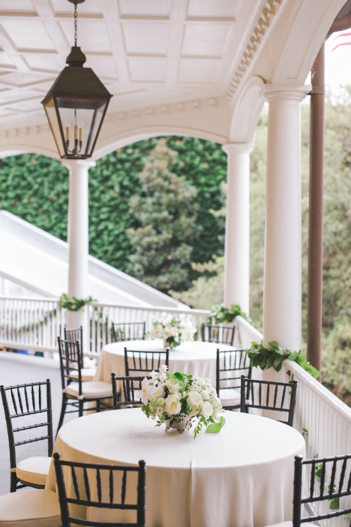 Wedding design by Kristin Newman Designs. Linens by La Tavola. Florals by Gathering Floral + Event Design. Image by Elisabeth Millay Photography at the William Aiken House.
