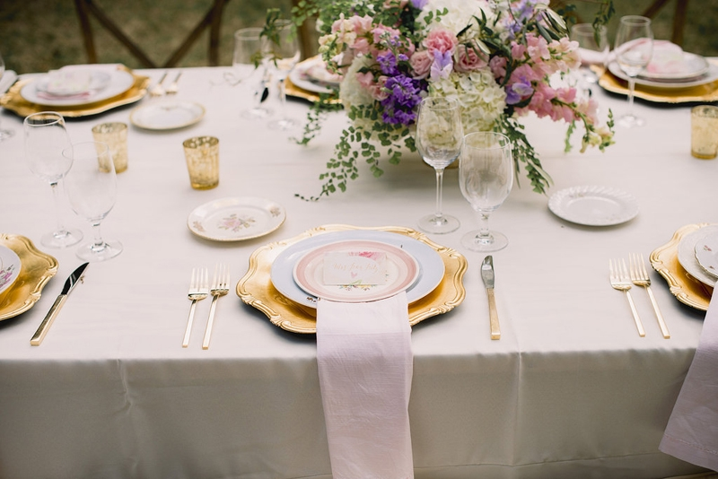 Wedding design by Sweetgrass Social Event + Design. Florals by Branch Design Studio. China from Heirloom Vintage China Hire. Image by Timwill Photography.