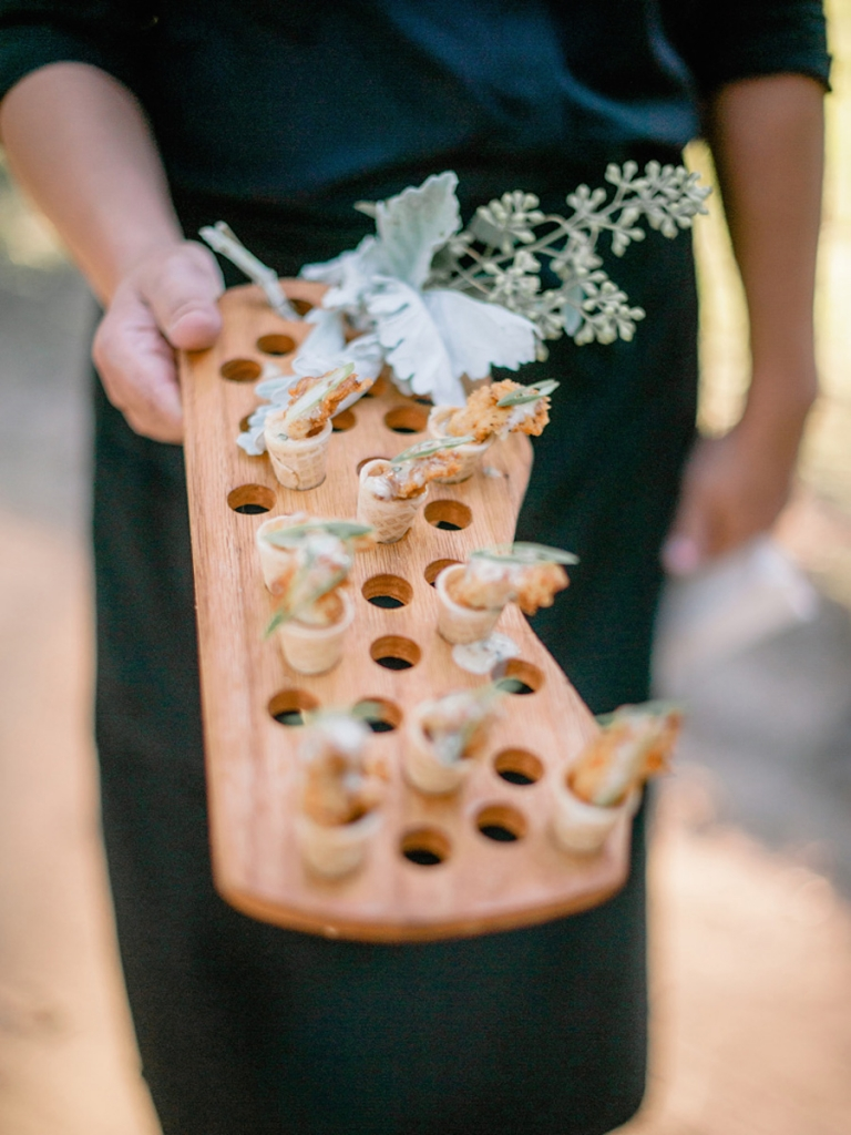 Catering by Cru Catering. Image by Brandon Lata Photography.