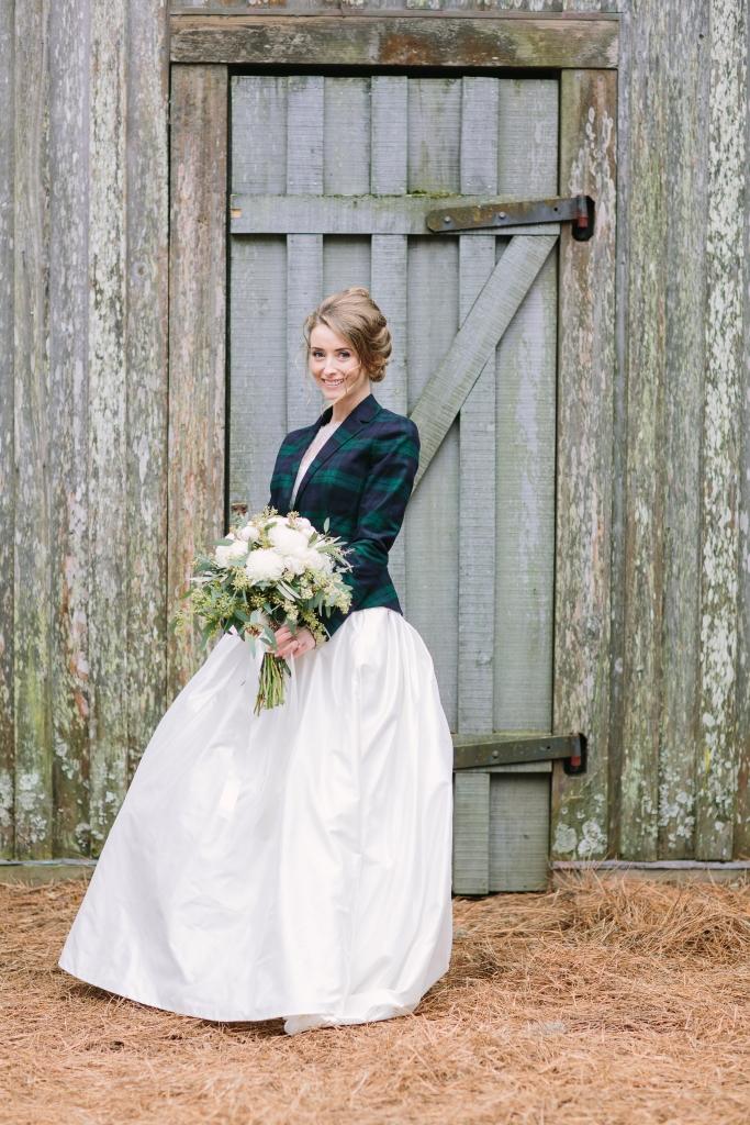 1. Bride Lauren Hawkins. Image at Boone Hall Plantation by Julia Wade Photography.