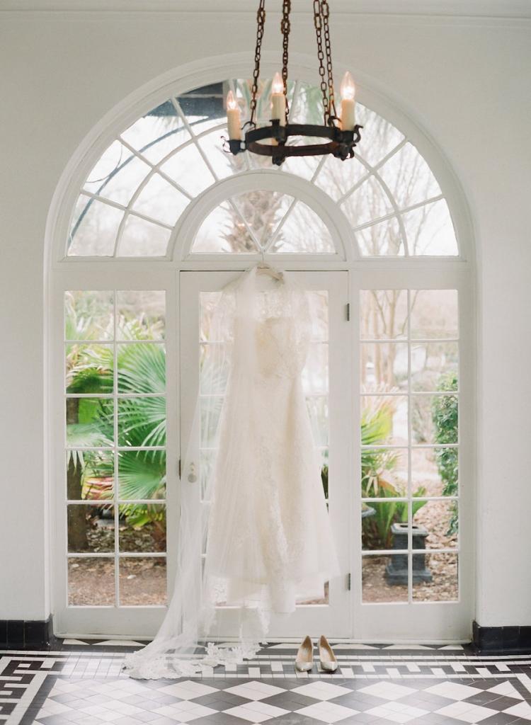 Photograph by Corbin Gurkin. Bride's attire by Oscar de la Renta.