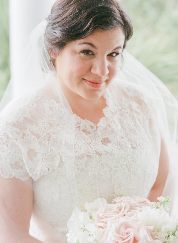 Photograph by Corbin Gurkin. Bride's attire by Oscar de la Renta. Beauty by Wedding Hair by Charlotte.