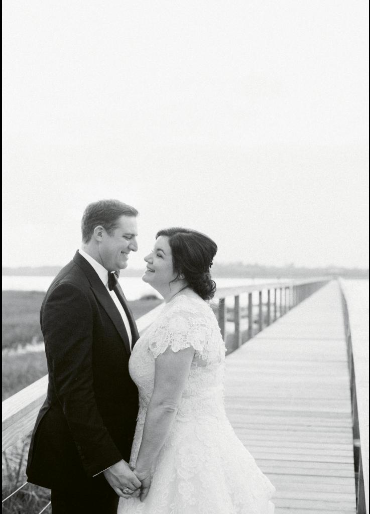 Photograph by Corbin Gurkin. Bride's attire by Oscar de la Renta. Groom's attire by Tom Ford.