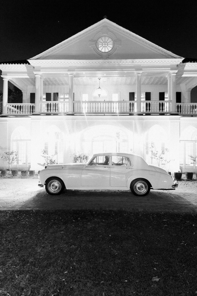 Photograph by Corbin Gurkin at Lowndes Grove Plantation. Getaway car by Charleston Style Limo.