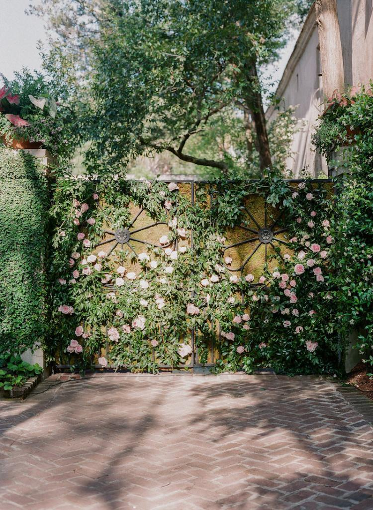 Wedding design by Kristin Newman Designs. Florals by Gathering Floral + Event Design. Photograph by Corbin Gurkin at a private home South of Broad.