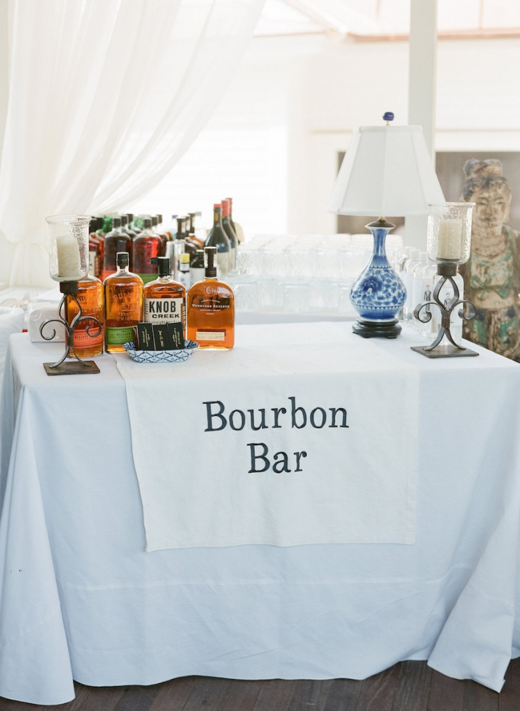 Wedding design and linens by Tara Guerard Soiree. Bar service by Spike by Snyder. Photograph by Corbin Gurkin.