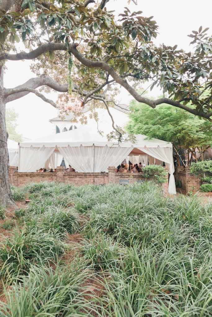 Photograph by Corbin Gurkin at the William Aiken House. Tent by Snyder Event Rentals.