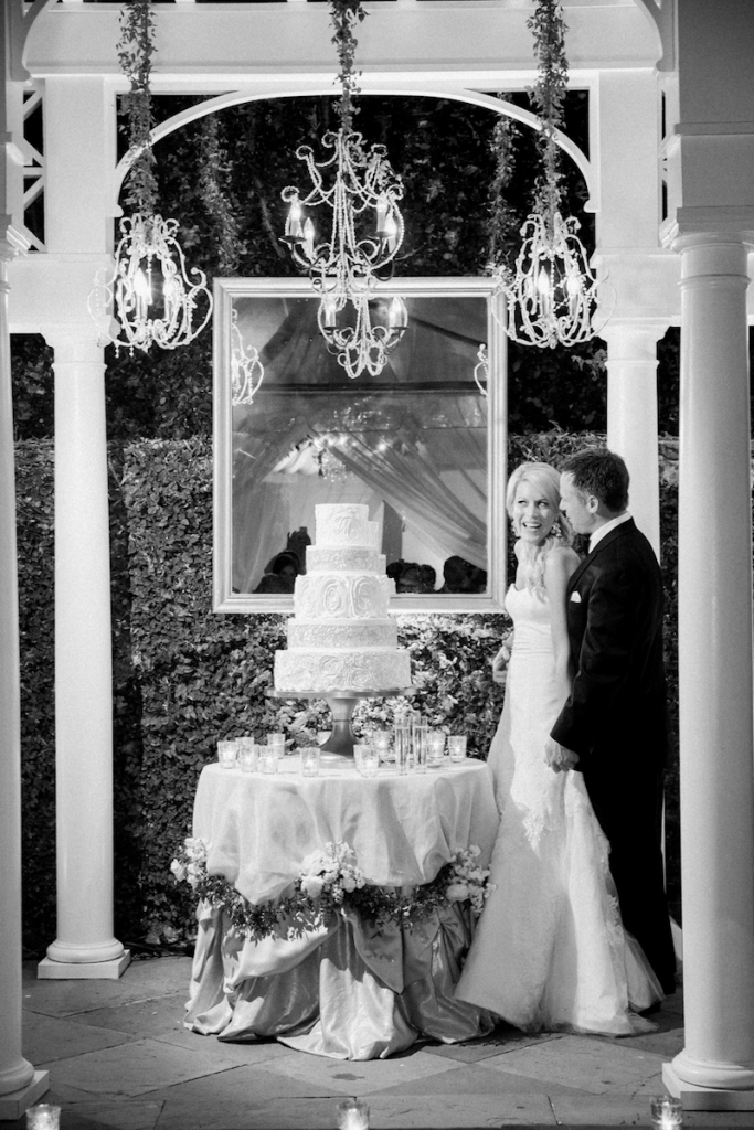 Photograph by Corbin Gurkin. Cake by Wedding Cakes by Jim Smeal. Lighting by Production Design Associates.