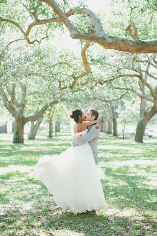 SOUTHERN ROMANCE: Following Thomas's career in the United States Air Force, the couple relocated to Charleston just months before their summertime nuptials.