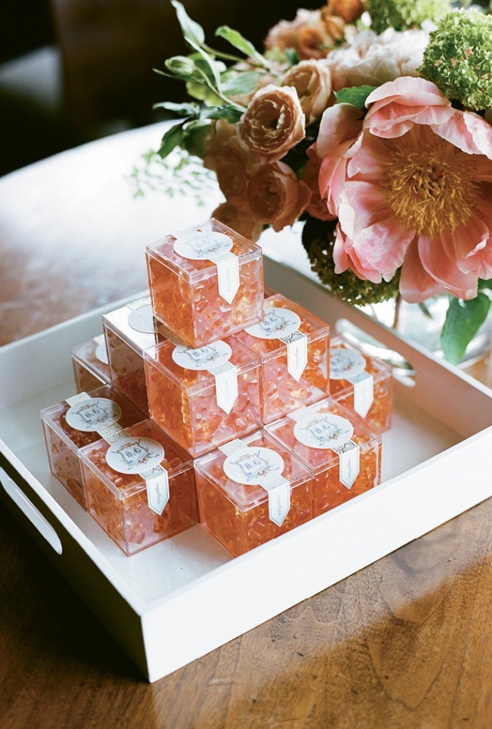 """Although I didn't get to drink rosé on my wedding day,"" says Brooke, ""I was perfectly content with my rosé gummies."""