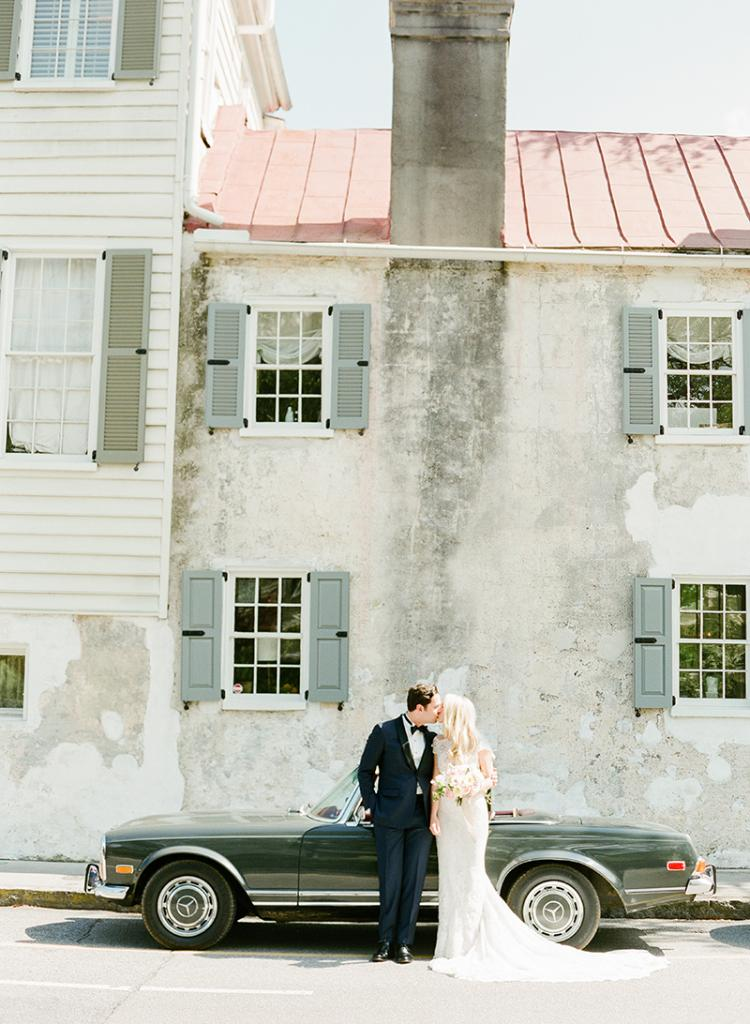 Book a weekday event. Weddings give you a price break on rentals, venue, and vendors. Taylor and Jonathan put savings towards prep time at boutique hotel Zero George, among other things.