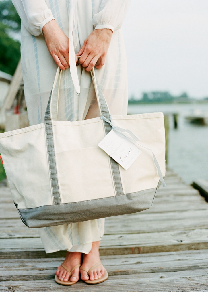 Gift classic canvas totes filled with seaside essentials. (Photo by Marni Rothschild Pictures)