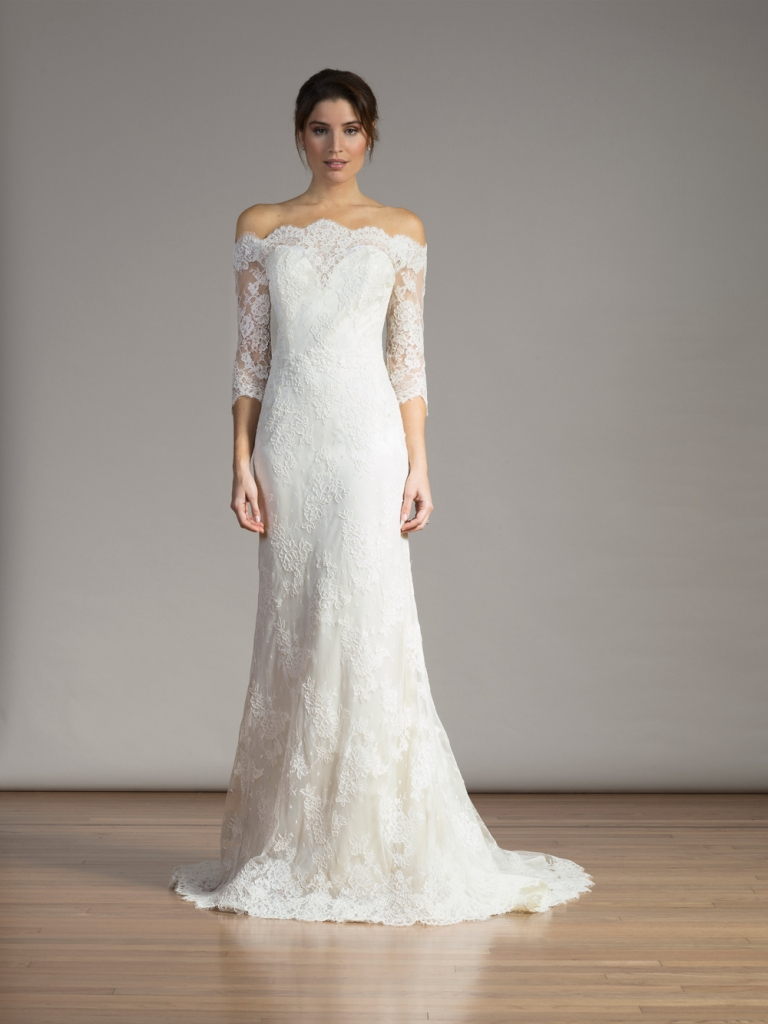 TREND: Off-shoulder sleeves GOWN: Liancarlo's Style 6850, available in Charleston through Betty Bridal Atelier