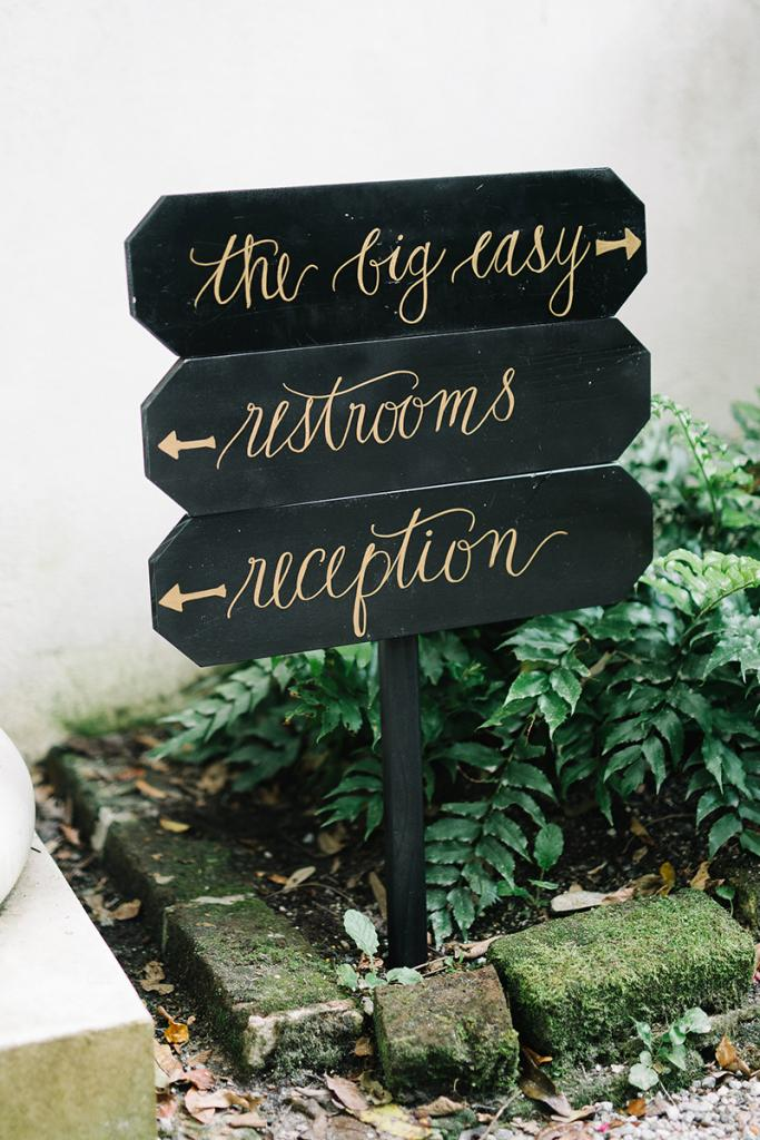 Post signs for the ceremony, reception, parking, powder rooms, and more as if you are hosting your event on a large site. (This especially goes for cool months when the sun goes down early.)