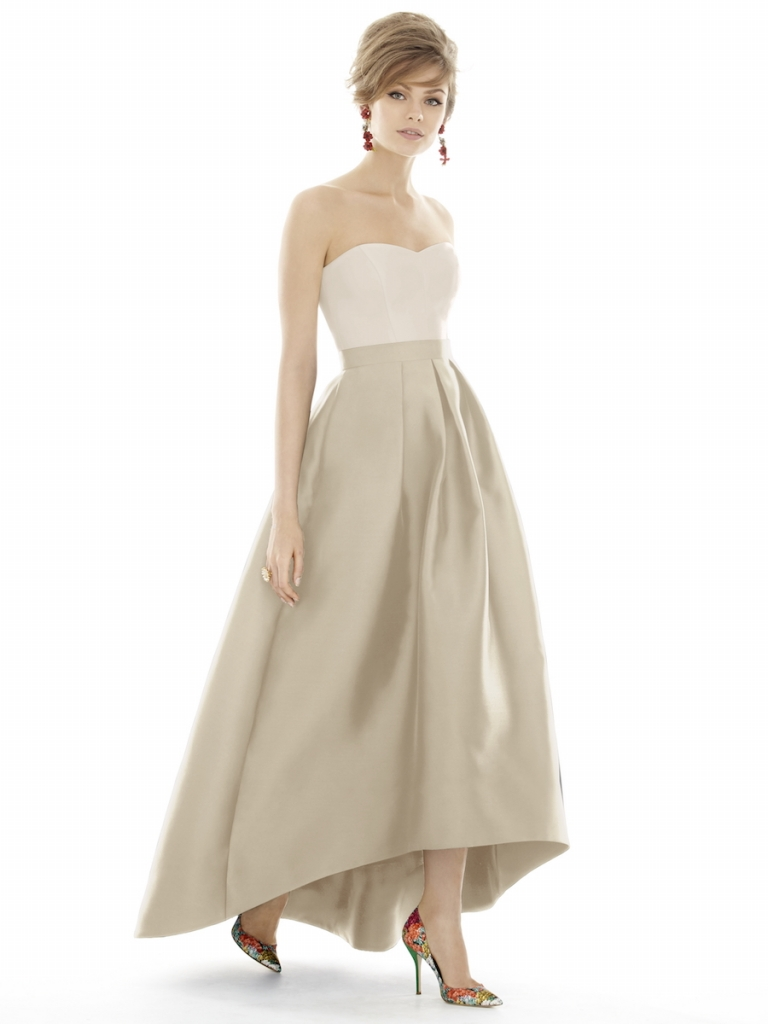 CLASSIC: Alfred Sung's Style D699, available through Bella Bridesmaids