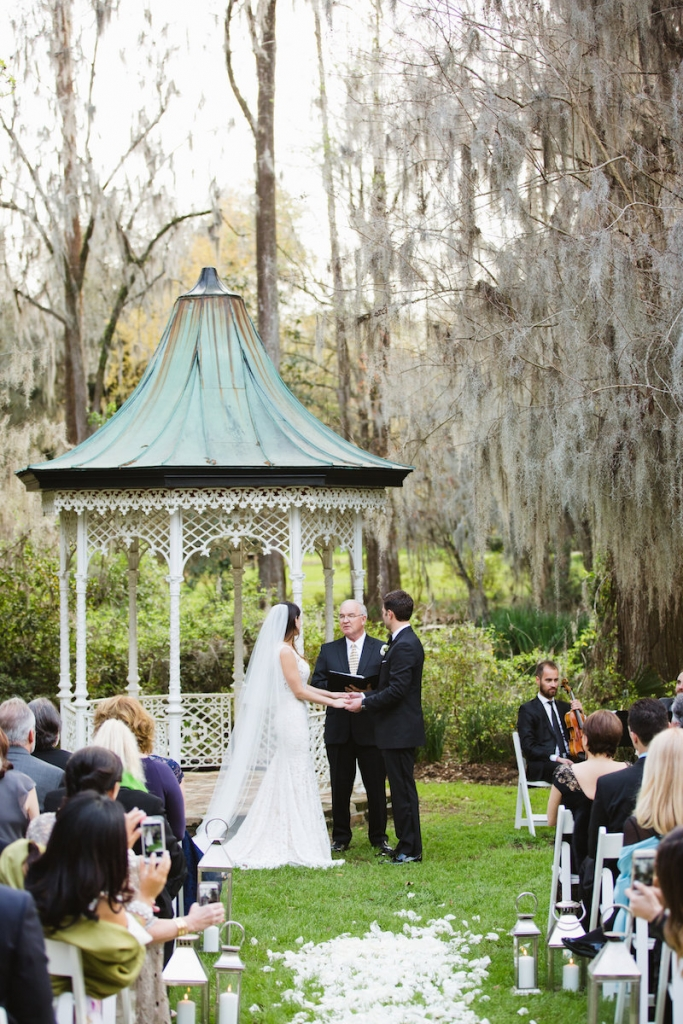 Wedding design by Ooh! Events. Image by Clay Austin Photography at Magnolia Plantation & Gardens.