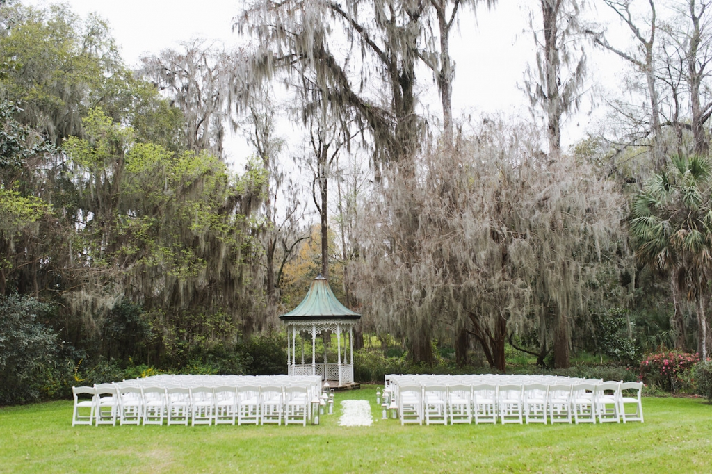 Wedding design and rentals by Ooh! Events. Image by Clay Austin Photography at Magnolia Plantation & Gardens.