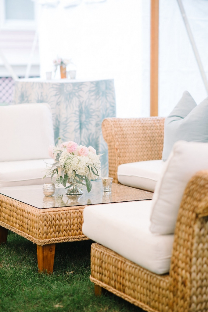 Rentals from EventWorks. Tent by Sperry Tents Southeast. Linens from La Tavola. Image by Aaron and Jillian Photography.