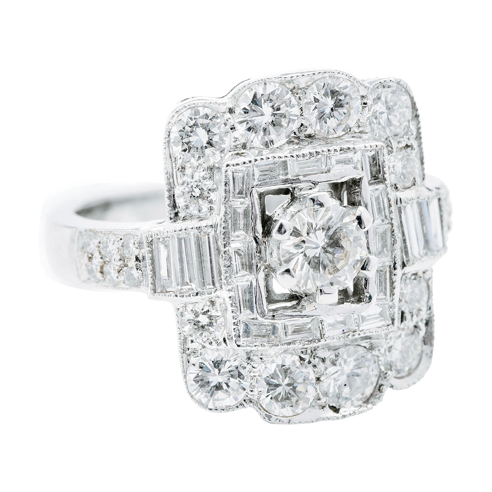 18K white gold ring with  diamonds (1.94 total cts.) from Croghan's Jewel Box ($6,550)