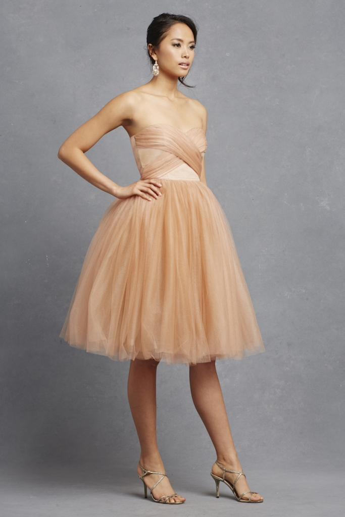 """CLASSIC: Donna Morgan's """"Kenna,"""" available through Bella Bridesmaids and Gown Boutique of Charleston"""