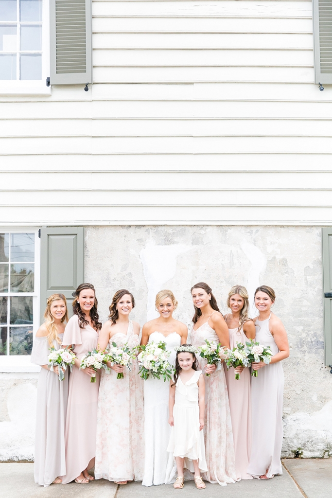 TIP: Choose wedding party frocks in the same palette as your venue.  Image by Dana Cubbage Weddings