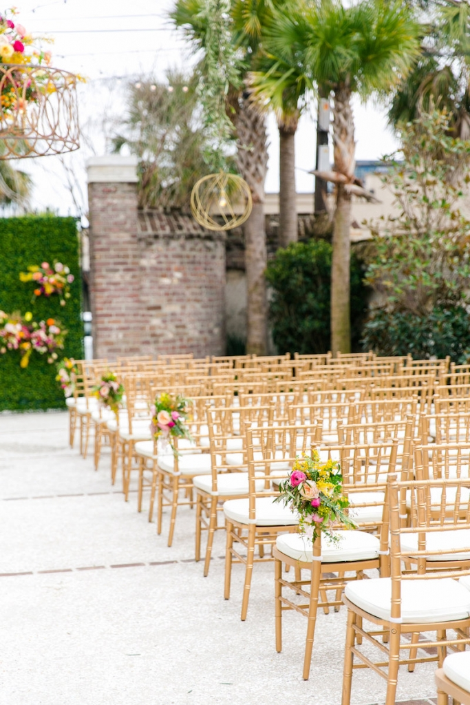 Wedding design by ELM Events. Chairs from EventHaus. Photograph by Dana Cubbage Weddings at the Gadsden House.