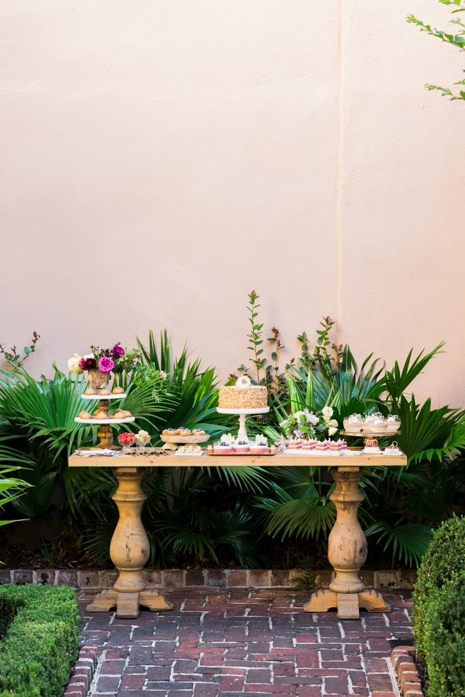 "For alfresco parties (especially those in warm months), time your serving to preserve delicate displays. ""Set out dessert buffets no sooner than as the last course is served,"" says Calder.  <i>Photograph by Gayle Brooker</i>"
