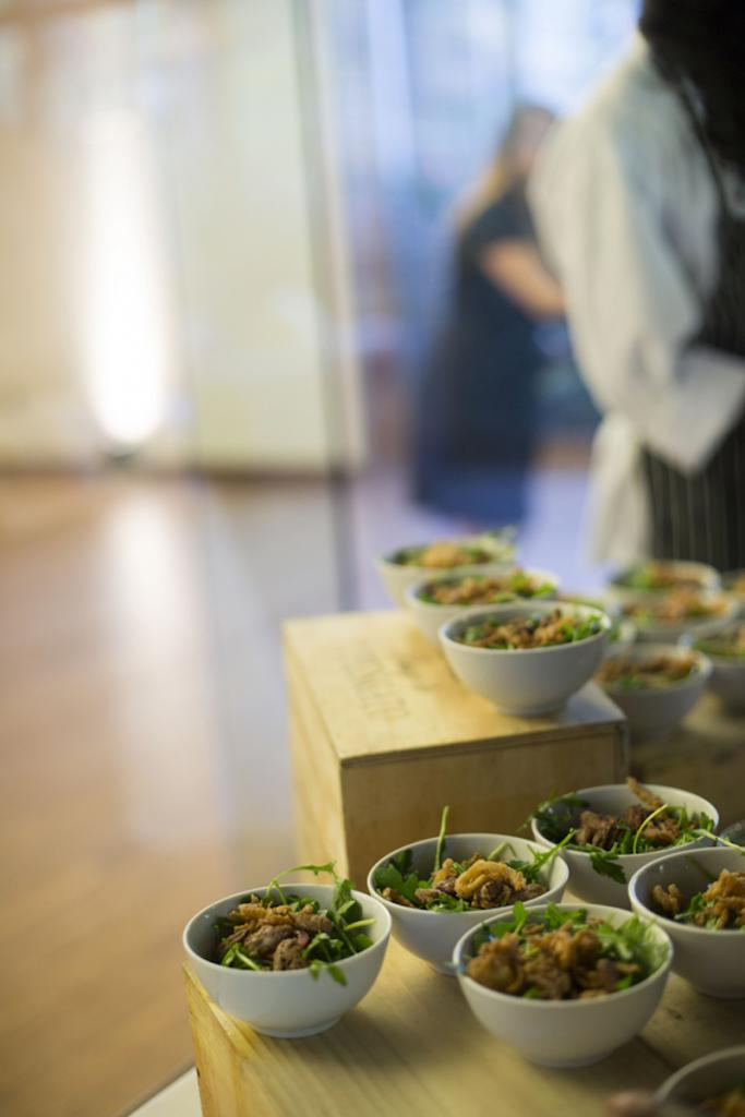 Catering by Cru Catering. Image by Ava Moore Photography.