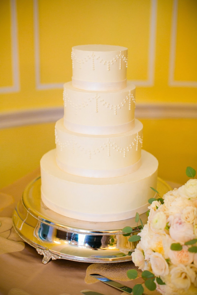 Cake by Patrick Properties Hospitality Group. Photograph by Dana Cubbage Weddings.