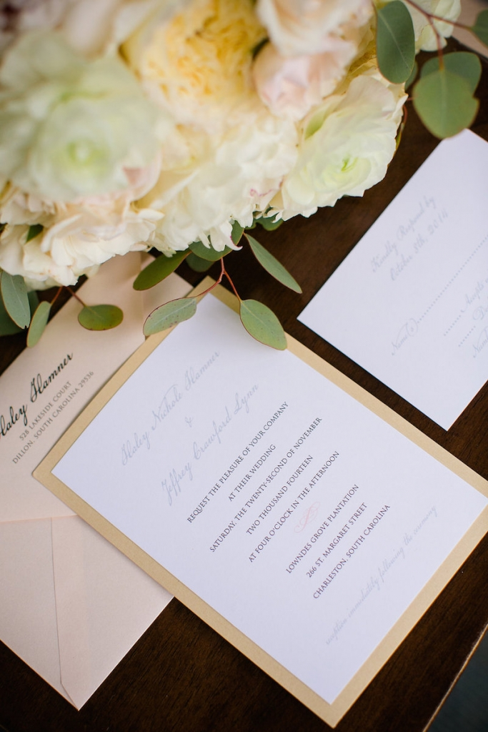 Stationery by The Silver Starfish. Photograph by Dana Cubbage Weddings.