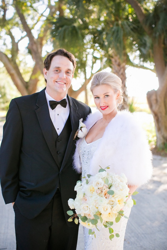 Bride's gown from Gown Boutique of Charleston. Beauty by Paper Dolls Wedding Hair & Makeup. Photograph by Dana Cubbage Weddings.
