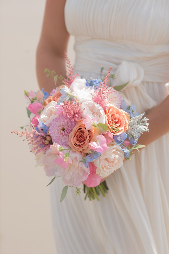 Bouquet by Country and Lace Florist. Image by Leigh Webber Photography at Station 30 on Sullivan's Island.