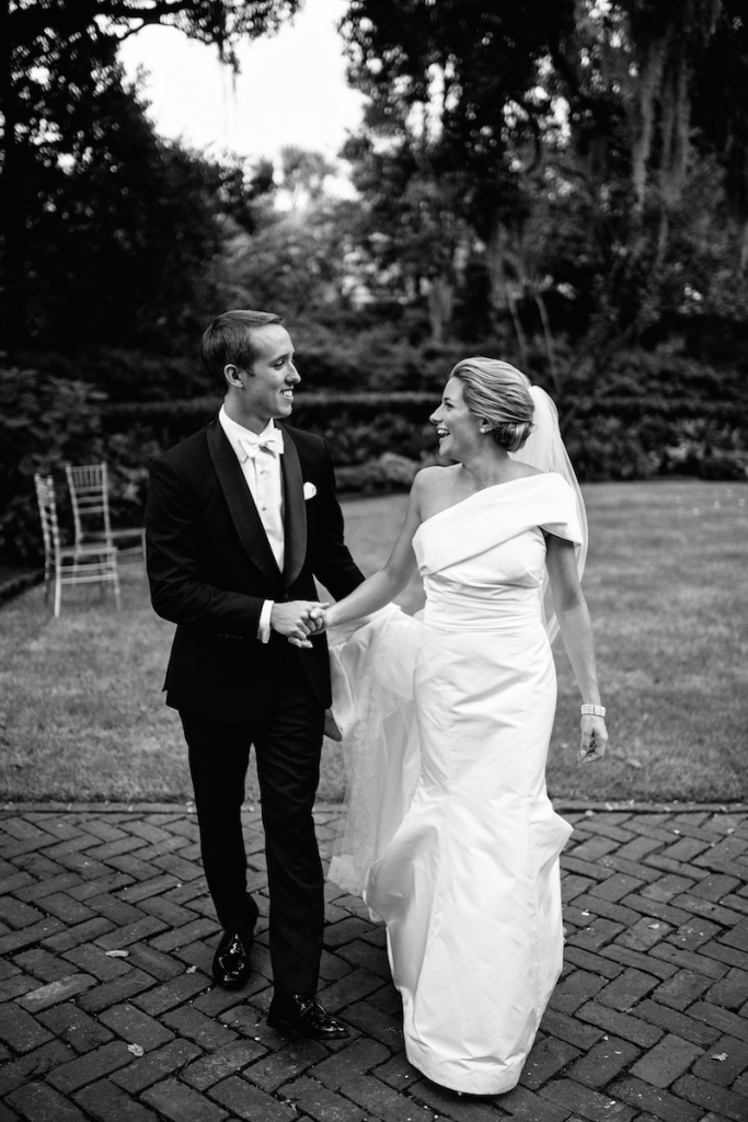 Bride's gown by Amsale (available locally at White on Daniel Island). Image by Andrew Cebulka Photography.