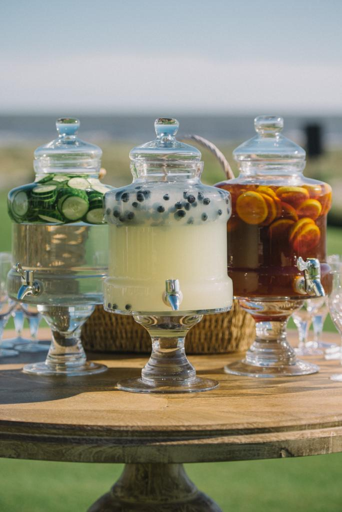 Beverages and catering by the Ocean Course at Kiawah Island. Photograph by Sean Money & Elizabeth Fay.