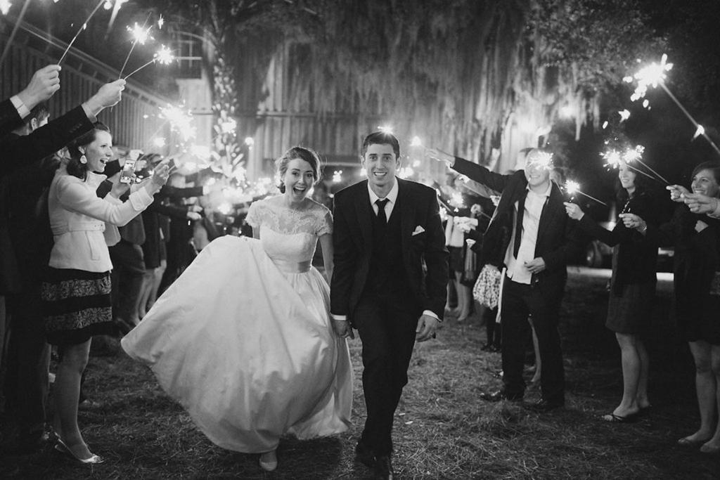 Bride's gown by Tara Keely. Image by Julia Wade Photography.