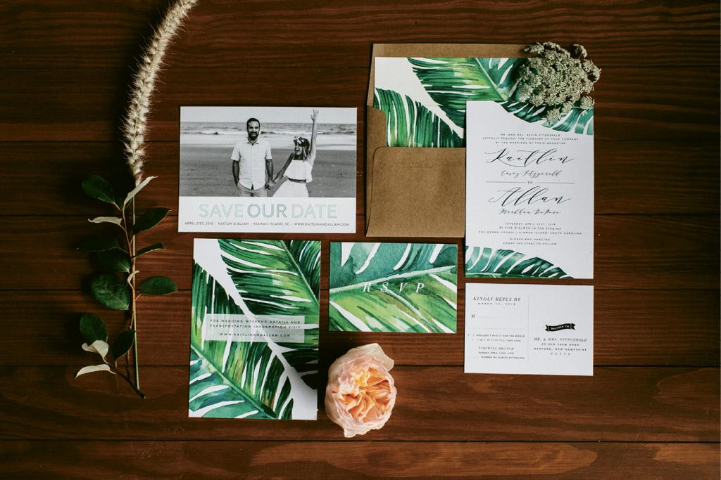 See the couple's engagement photos, which were on their save-the-dates, on our blog, The Wedding Row.