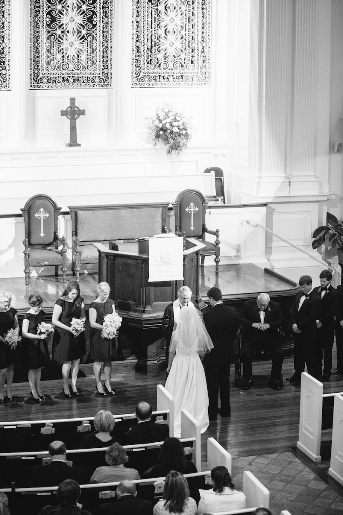 Photograph by Dana Cubbage Weddings at First (Scots) Presbysterian Church.