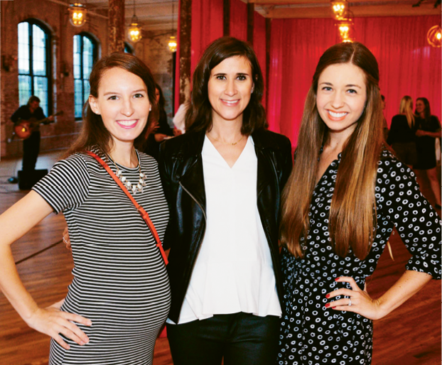 Southern Weddings' Emily Thomas and Lisa Kirk with Kristin Doggett (center)