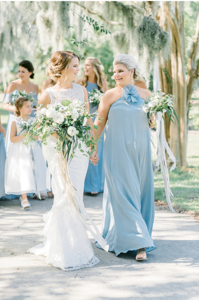 """""""I had a lot to live up to after her William Aiken House wedding,"""" says Mallory of her sister/matron of honor/planner Meredith's 2013 celebration, """"but she had no problem making mine just as special."""""""