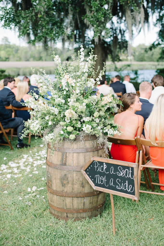 Image by Aaron & Jillian Photography at Magnolia Plantation & Gardens. Design by Pure Luxe Bride. Florals by Wildflowers Inc.