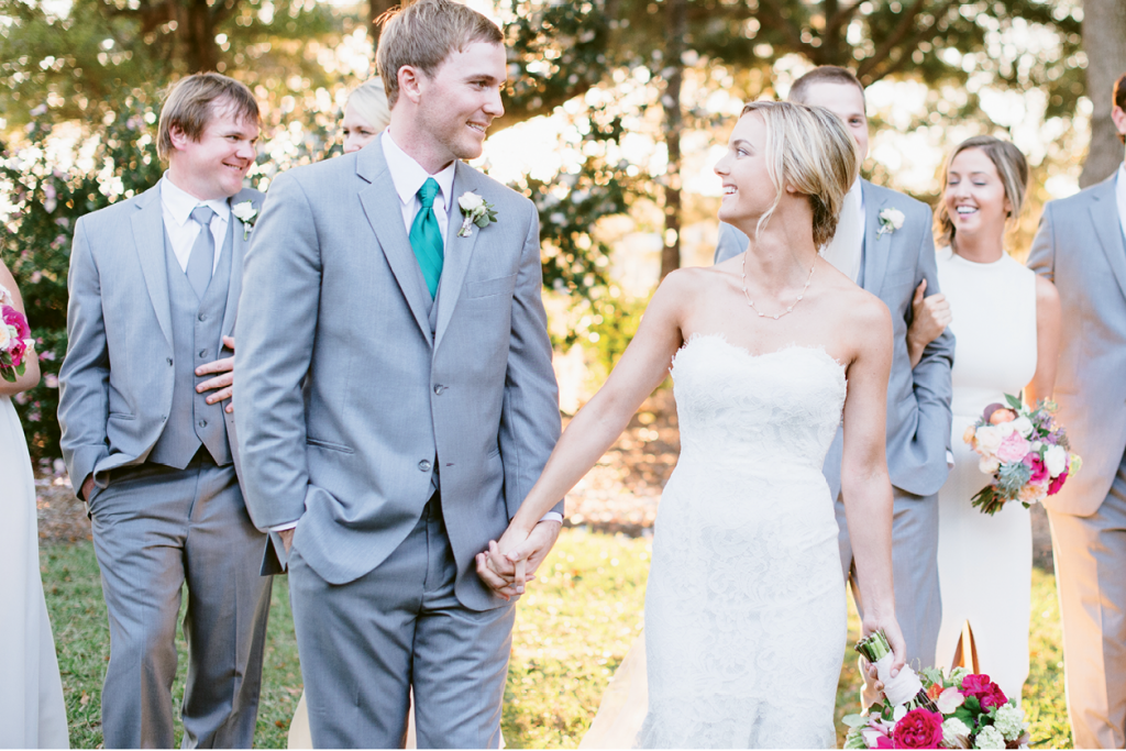 """""""I will long remember this incredibly grateful groom who kept thanking me  as though he was surprised at how special, smooth, and joyful his own wedding could be,"""" says planner Marianne Caldwell of the humble couple. (Image by Natalie Franke Photography)"""
