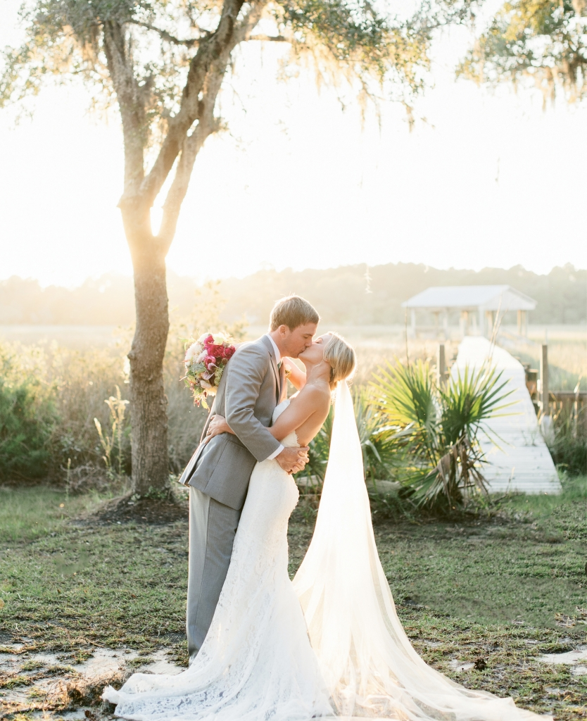 RiverOaks sits on a tidal river in Awendaw, just north of Mount Pleasant, and is a private residence that welcomes a handful of weddings each year. (Image by Natalie Franke Photography)