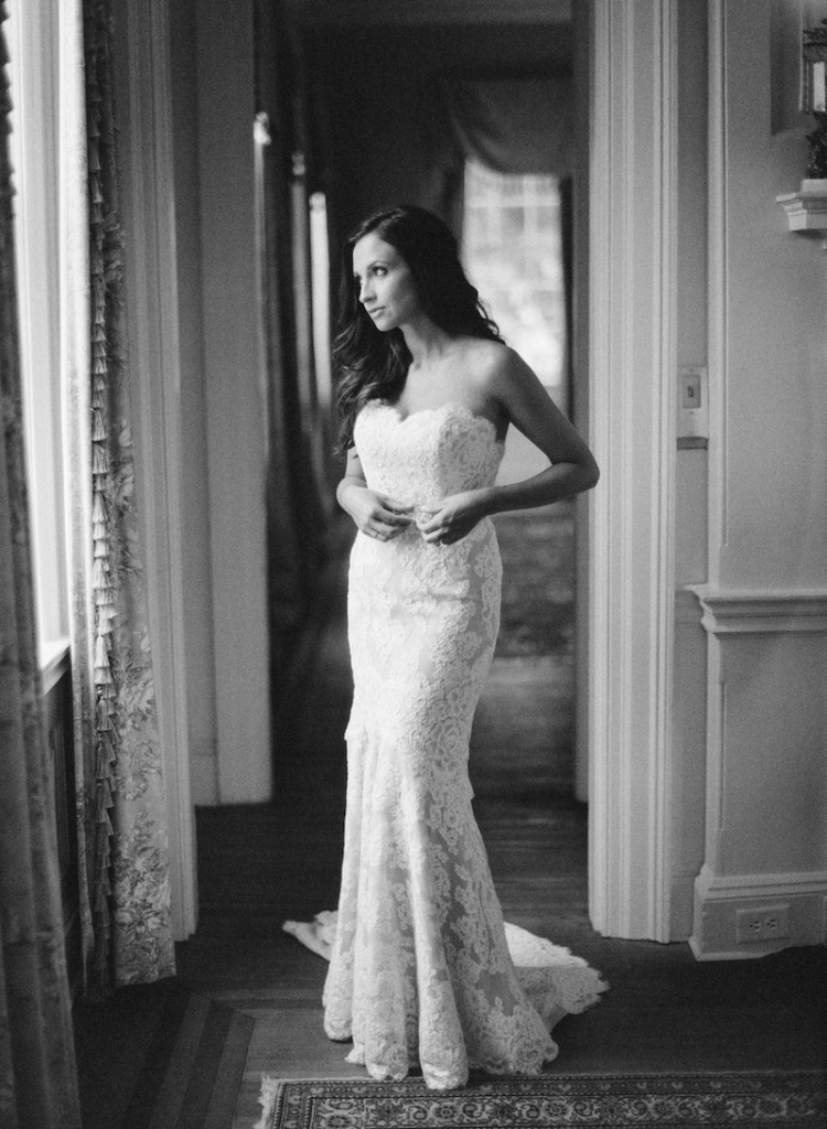 Bride's gown by Anne Barge, available in Charleston through White on Daniel Island. Dress steaming by Cacky's Bride + Aid. Hair and makeup by Ash and Co. Image by Ryan Ray Photography.