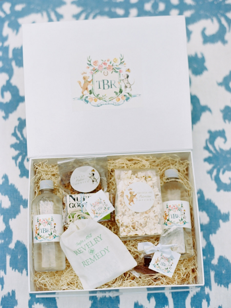 Welcome boxes by A Signature Welcome. Image by Ryan Ray Photography.