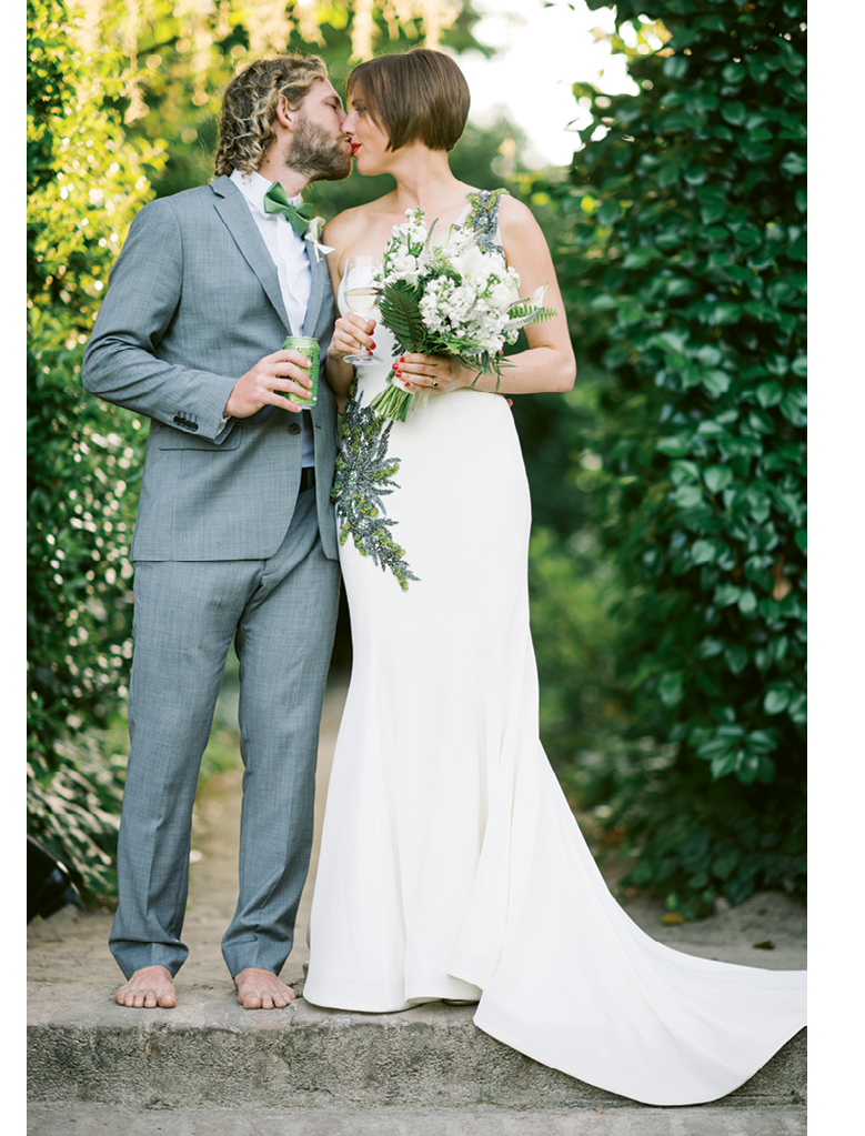 Photograph by Sean Money + Elizabeth Fay. Bride's attire by Luly Yang. Bouquet by Tiger Lily Weddings.
